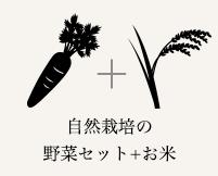 自然栽培の野菜セット+お米